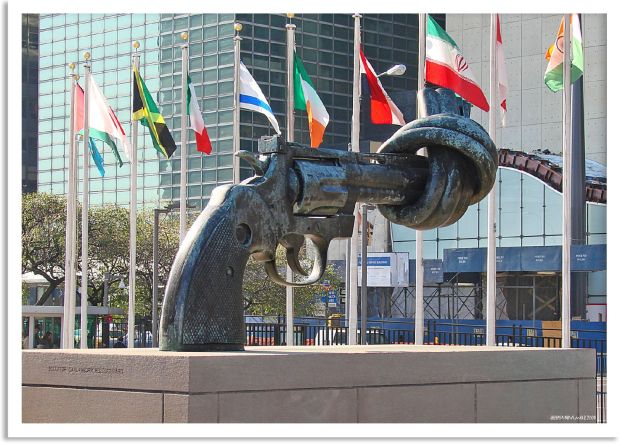 New York- Non Violence Sculpture