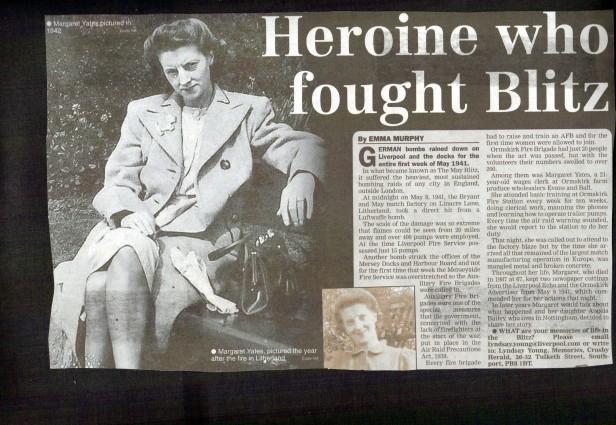 heroine who fought blitz