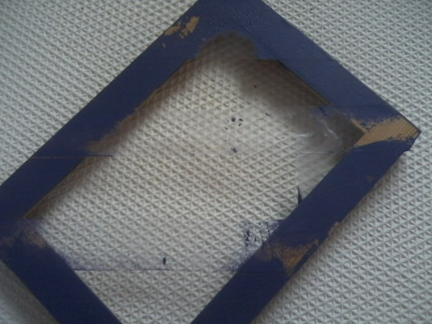 Picture Frame with Tape and Paint